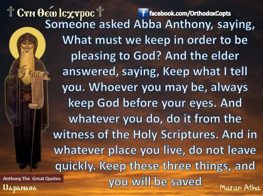 Abba Anthony saying 2